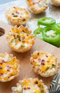 Baked Jalapeno Popper Phyllo Cups