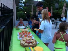 Snacks at Greenbrier Golf & Country Club during Swim under the Stars!