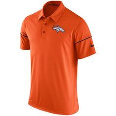 Nike Denver Broncos Orange Team Issue Dri-FIT Polo Shirt #broncos #denver #nfl