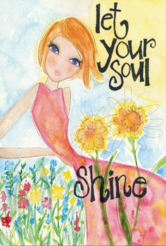 'Let Your Soul Shine' Gallery-Wrapped Canvas