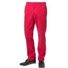 $27, Red Chinos: Urban Classics Chinos Red. Sold by Zalando. Click for more info: https://lookastic.com/men/shop_items/143605/redirect