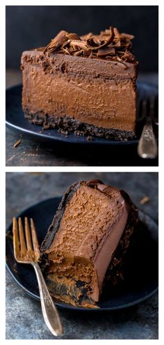 Ultimate Chocolate Cheesecake - The Best Chocolate Cheesecake Recipe - Cheesecake Recipes No Bake Desserts, Just Desserts, Delicious Desserts, Dessert Recipes, Yummy Food, Health Desserts, Best Chocolate Cheesecake, Chocolate Recipes, Chocolate Lovers
