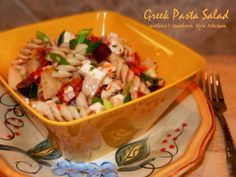 Melissa's Southern Style Kitchen: Greek Pasta Salad