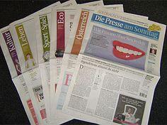 Newspaper Designs - Die Presse am Sonntag Newspaper Design, News Design, Spreads, Design Inspiration, Graphics, Writing, Journaling, Gold Rush, Sunday