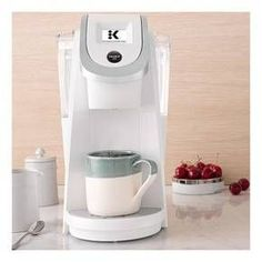 Whether you just need a single cup or a whole carafe, the Keurig K200 Single-Serve K-Cup Pod Coffee Maker has you covered. The screen on the front of this K-Cup coffee maker lets you choose the size and strength of your cup. With the K-Carafe Pods, you can brew a 22-30-ounce carafe, sold separately, of your favorite blend to sip on all morning or serve to guests. With a 40-ounce water reservoir, you can drink cup after cup before refilling.