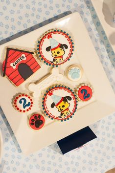 Puppy Pawty Party Planning Ideas Supplies Idea Cake Decorations