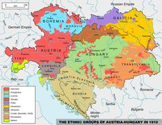 The ethnic groups of Austria-Hungary in 1910