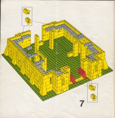 Thousands of complete step-by-step printable older LEGO® instructions for free. Here you can find step by step instructions for most LEGO® sets. Lego Castle Instructions, Lego Structures, Classic Lego, Lego Challenge, Lego Juniors, Lego Club, Lego Activities, Vintage Lego, Lego Design