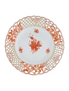 Vintage Japanese Porcelain Weeping Maple Pheasant Gold Accent Small Plate