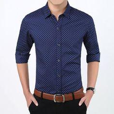 1dbb822b 2017 Autumn New Casual Shirt Mens' Stretch Cotton Plus Size High Quality Shirt  Long Sleeve Printed Shirts Classic Collar. Fashion TecK · Men's T Shirts