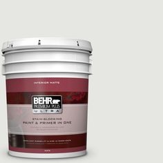 BEHR Premium Plus Ultra 5 gal. #hdc-NT-10G Wedding Cake White Matte Interior Paint