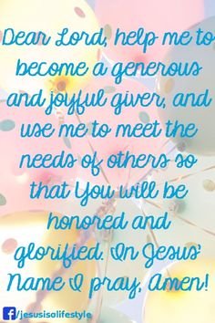 "You are Blessed:  ""Because God Loves a Cheerful Giver""!!!                     2 Corinthians 9:6-15"