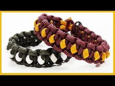 "Paracord Bracelet: ""Solomon's Slanted Path"" Bracelet Design Without Buckle - YouTube"