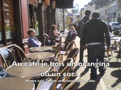 Food and Drink in French Practice - At a café, a restaurant, eating at home. French food and drink listening resource. French Teaching Resources, Teaching French, Communication Orale, Learn French Fast, French Practice, French Language Learning, Foreign Language, Core French, French Classroom