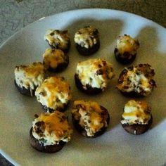 Cream cheese stuffed mushrooms :)