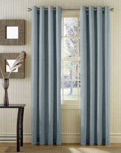 Master bedroom curtains  Sailcloth Cotton Canvas Wide Width Grommet Panel / Curtainworks.com