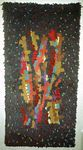 """Hand-knotted wall hanging """"Geäst"""" (branches) ca. 1962 Private collection"""