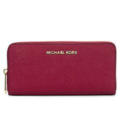 bbb4b211f193 Michael Kors Jet Set Travel Zip Around Continental Saffiano Leather Wallet  (Luggage)