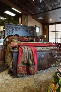 Love this bed and the bedding is gorgeous!!