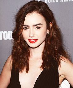 Image via We Heart It https://weheartit.com/entry/150246688/via/17840772 #actress #beautiful #eyes #hair #lips #pretty #mortalinstruments #cityofbones #lilycollins #stuckinlove #loverosie