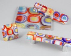 GLASS KNOBS & TILE MADE FROM A PHOTO: Choose your color, shape and design.  www.juniperriver.com