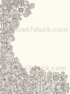 Hand-Drawn Psychedelic Paisley Henna Tattoo Doodle with Flowers and Swirls | blue67design via Flickr!