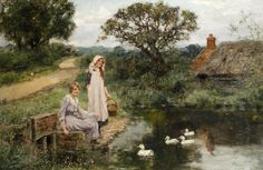 The Village Pond ~ Henry John Yeend King ~ (English: 1855-1924)