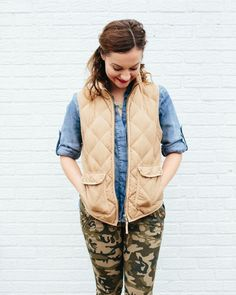 How to Style Camo two different ways from Heather Brown of http://MyLifeWellLoved.com // Camo Pants // Camo Dress style ideas // Camo Fashion // Mom Style // India Hicks Bag // Heather Brown at My Life Well Loved  // My Life Well Loved
