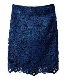Lace Pencil Skirt in a fabulous blue!
