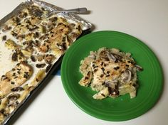 Sheet pan chicken with mushrooms and artichokes