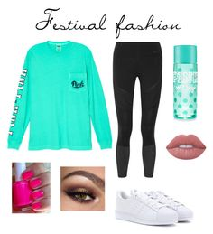 """""""Untitled #27"""" by gracief-9 ❤ liked on Polyvore featuring Victoria's Secret, NIKE, Lime Crime and adidas"""