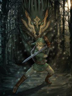 legend of zelda fan art Twilight Princess - Link and Wolf link