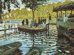 "Claude Monet, ""La Grenouillère"", 1869, the Metropolitan Museum of Art, New York"