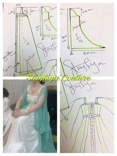Diy Clothing, Sewing Clothes, Clothing Patterns, Dress Patterns, Muslim Fashion, Hijab Fashion, Diy Fashion, Fashion Dresses, Sewing Paterns