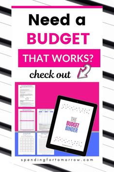 The Budget Binder Create a budget that works! The Budget Binder is everything you need to create a budget, set goals, payoff debt, and build savings. Monthly Budget Worksheet, Budgeting Worksheets, Weekly Budget, Budget Binder, Living On A Budget, Family Budget, Frugal Living, Money Tips, Money Saving Tips