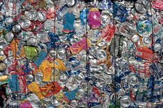 Cans multicolor. A bale of aluminum cans for recycling in a US facility , Recycling Steel, Scrap Recycling, Garbage Recycling, Copper Prices, Metal Prices, Metal For Sale, Metal Shop, Copper Metal, Pure Copper