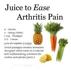 Arthritis Remedies Hands Natural Cures - Juice to ease Pain ~ - No. 04 and No. 10 both excellent juice choices for easing arthritis pain both have properties Arthritis Remedies Hands Natural Cures Natural Cure For Arthritis, Types Of Arthritis, Natural Cures, Natural Health, Arthritis Hands, Arthritis Relief, Gout In Hands, Natural Juice, Healthy Juice Recipes
