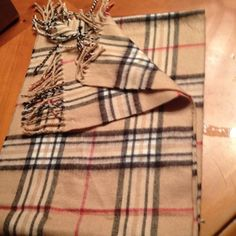 """plaid scarf gently used 66""""x 12"""" Accessories Scarves & Wraps"""