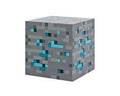 Minecraft Light-Up Redstone Ore Blue Stone Diamond Square Night Light Touch LED Lamp Toys For Kids Gift By Think Geek