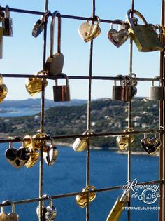 Love locks at the Oasis on Lake Travis, Texas <3