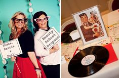 Un gracioso photocall y mesa para una fiesta años 50 / A fun photocall and tablesetting for a 1950s party
