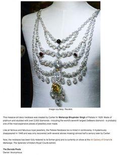 La collana Patiala creata da Cartier per la casa regnante indiana