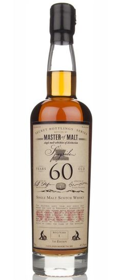 Master of Malt 60 Year Old Speyside scotch whisky