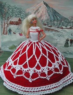 CROCHET FASHION DOLL PATTERN-#15 COUNTRY CHRISTMAS #ICSORIGINALDESIGNS