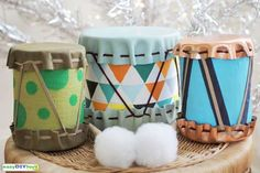 This topic will show you how to make DIY Toy Drums from tin can and cloth. With the tin cans, cloth, we think they're rubbish, you'll recycle them into the lovely drums that your baby really like because of their funny sounds.