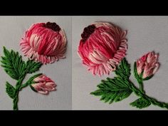 Hand Embroidery Flower Designs, Basic Embroidery Stitches, Hand Embroidery Videos, Hand Embroidery Tutorial, Simple Embroidery, Kutch Work Designs, Brazilian Embroidery, 3d Hand, Flower Art