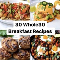 Top 30 Whole30 Breakfasts | Every Last Bite Whole 30 Breakfast, Eat Breakfast, Breakfast Recipes, Breakfast Ideas, Whole 30 Smoothies, Dairy Free, Gluten Free, Whole 30 Approved, Whole 30 Recipes