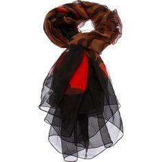 YVES SAINT LAURENT VINTAGE print scarf ($455) ❤ liked on Polyvore