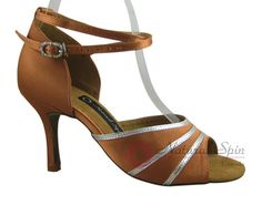 Natural Spin Signature Latin Shoes(Open Toe):  H1108-02_DrTanS