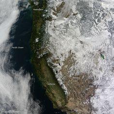 Este invierno nevó en EEUU, sí... Menos en California.